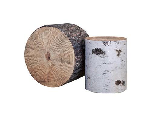 Krone Hanssen Wood Stubbe Poufs