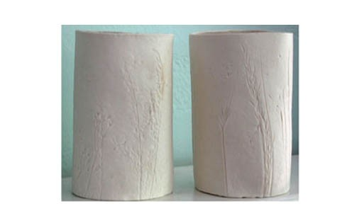 Porcelain Votive Holder, Grasses