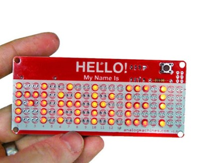 HELLO! My Name Is LED Nametag Kit