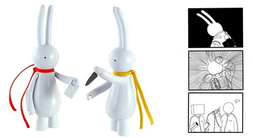Lapin Figures + Book by Mr. Clement