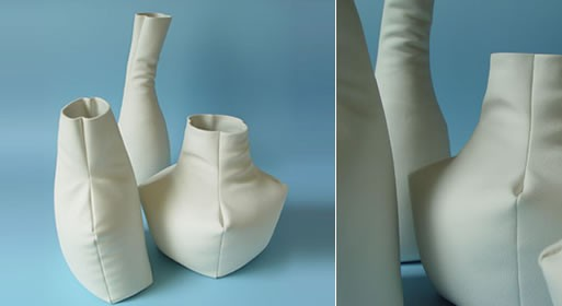 Leather Vase