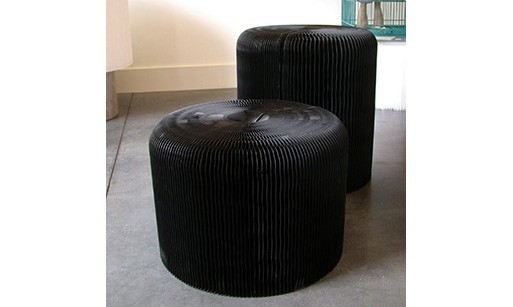 Molo Fanning Stool- Black