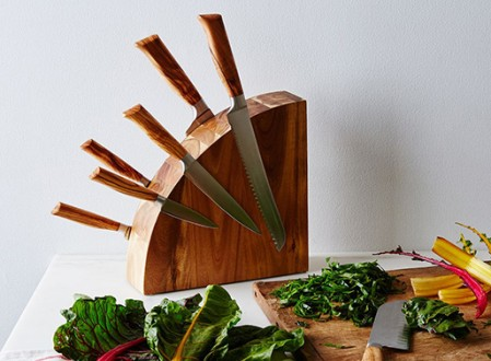 Magnetic Wood Knife Block