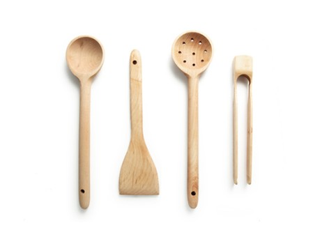 Maple Wood Utensil Set