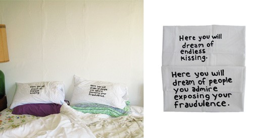 Miranda July pillowcase set