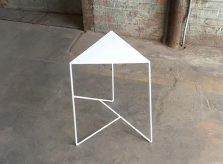 Geometric Steel Side Table by PWHFurniture