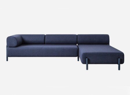 Palo Corner Sofa Right Blue