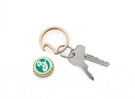 Phosphor Bronze Circle Keychain Bottle Opener