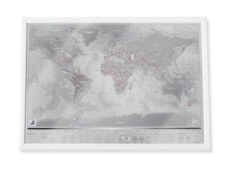 Platinum Scratch World Map