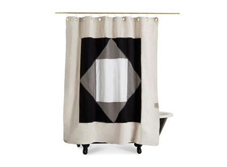 'The Narlai' Canvas Shower Curtain