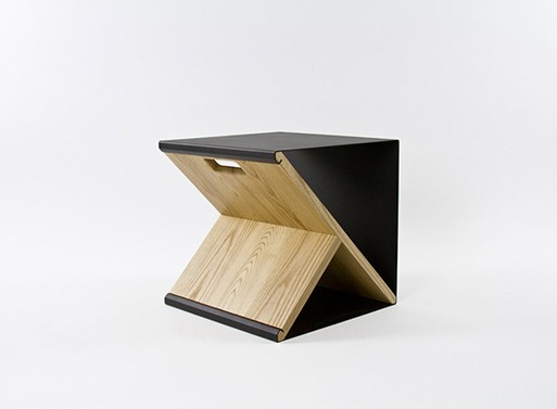 Black Steel Stool