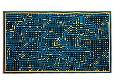 Tokyo 2 and New York 1 Bitmap Blanket