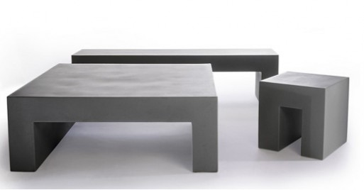 Minimal Cube Bench And Table By Heller Furnishings Better Living Through Design