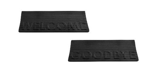 welcome/goodbye doormat