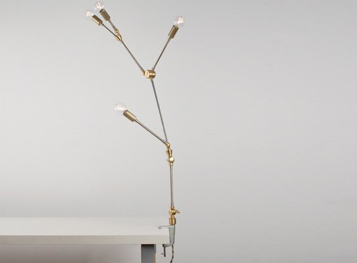 DIY Clamp Lamp from Lindsey Adelman