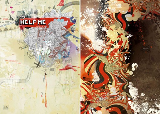 'Help Me' and 'Thought' Digital Art Prints