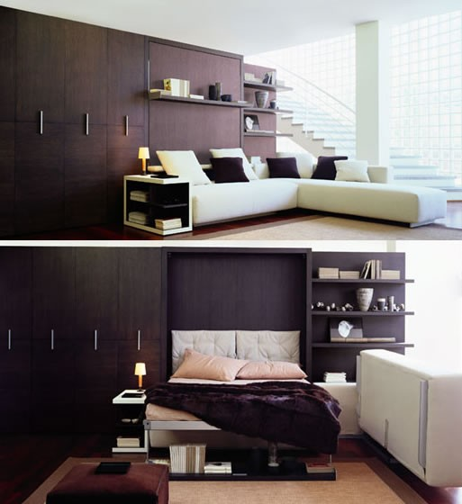 Atoll corner sofa with double wall bed.