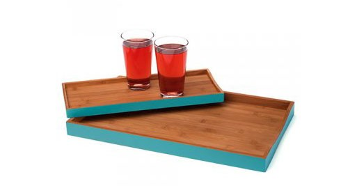 Aqua Serving Trays