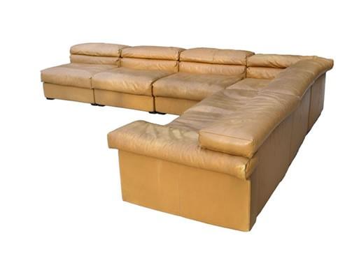 B&B Italia Leather Sectional Sofa by Afra Scarpa