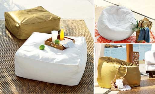 Beanbag Ottoman and Chair