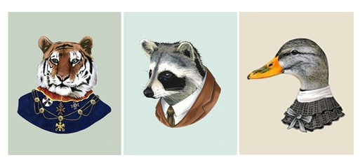 Berkley Illustration Animal Portraits