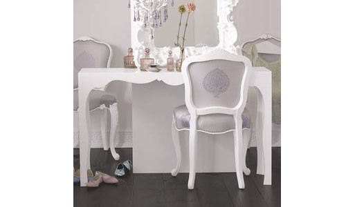 silhouette console table-white