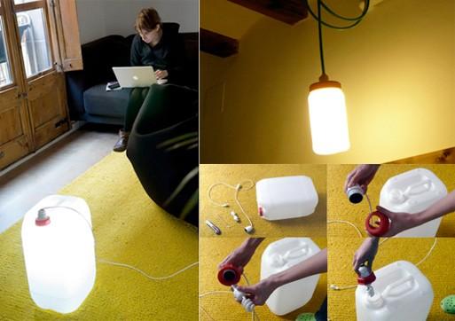 DIY Bidon Lamp