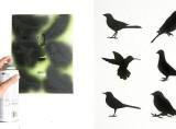 Set of 6 Bird Stencils