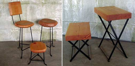 Bitters Co. Sculpted Stools and Tables