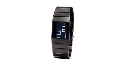 Black-on-Black Digital Watch