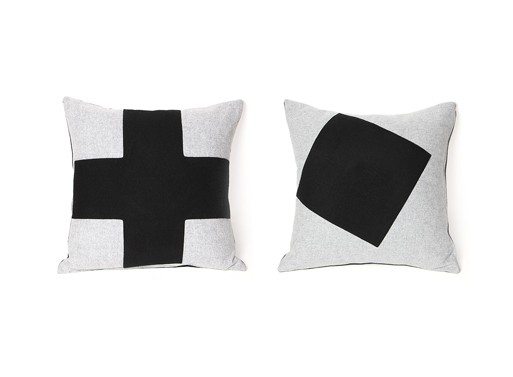 Imperfect Black and Grey Pillows