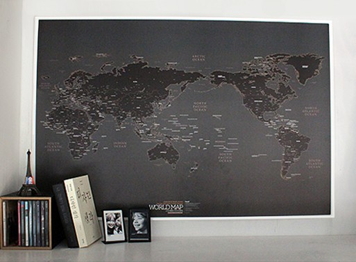 World map black accessories better living through design world map black gumiabroncs Gallery