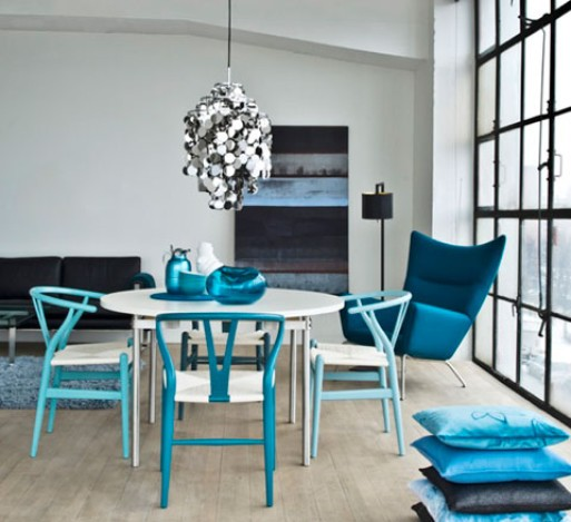 CH24 Wishbone Chair – Blue Series