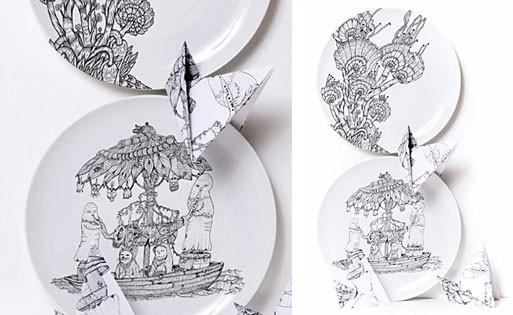 Opulent Boat Plate Set