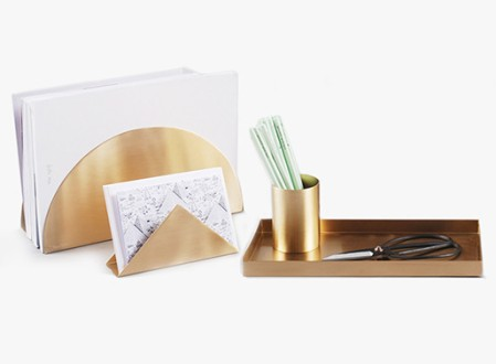 Brass Desk Set