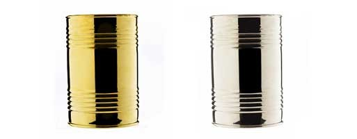 Can Vase, Silver or Gold