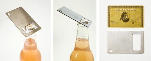 Wallet Sized Stainless Steel Bottle Opener