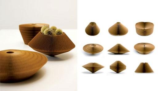 Liquid Cardboard Vases