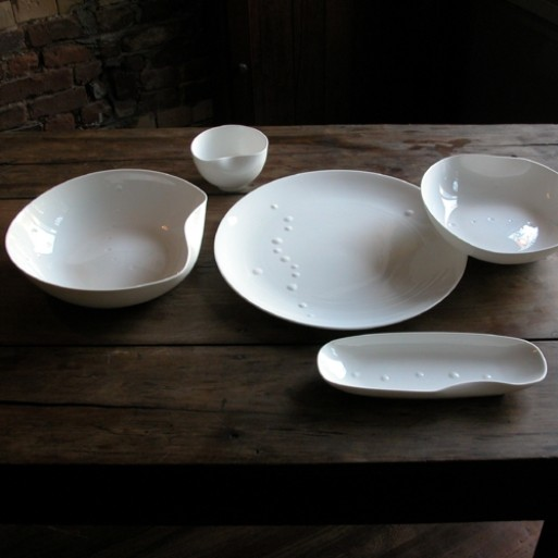 Sculptural China Serving Pieces