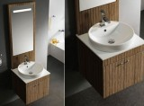 Caesar Walnut Wall Mount Modern Vanity