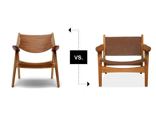 Ch28 vs lars lounge chair furnishings better living for Chair vs chairman