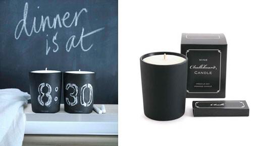 Chalkboard Candle