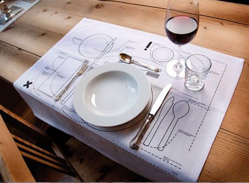 Cheat Sheet Placemat — ACCESSORIES -- Better Living Through Design