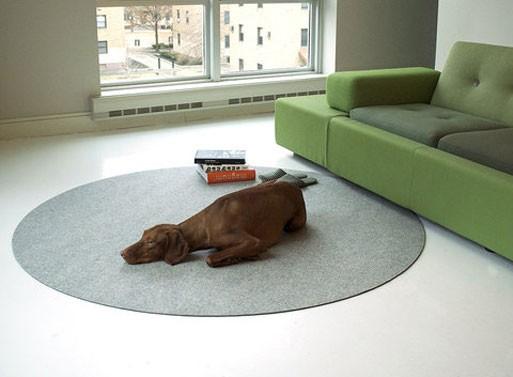 Felt Circle Floor Mat