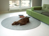Felt Circle Floor Mat