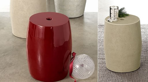 Convex Drum side table