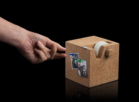 Cork Cube Tape Dispenser