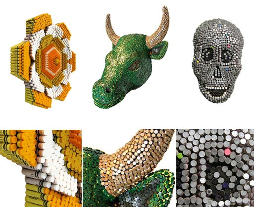 Crayon Sculptures by Herb Williams