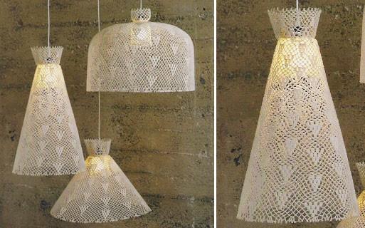 Crochet Pendant Lamps