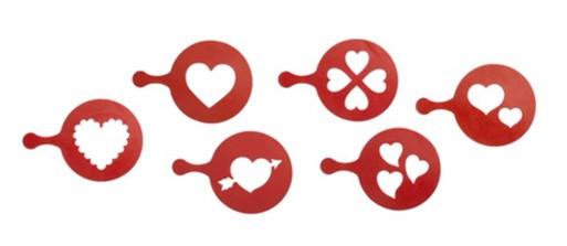 Valentine's Day Cupcake Stencils